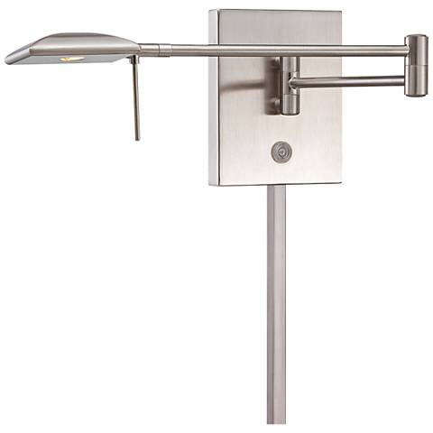 George Kovacs Square Head LED Nickel Swing Arm Wall Lamp
