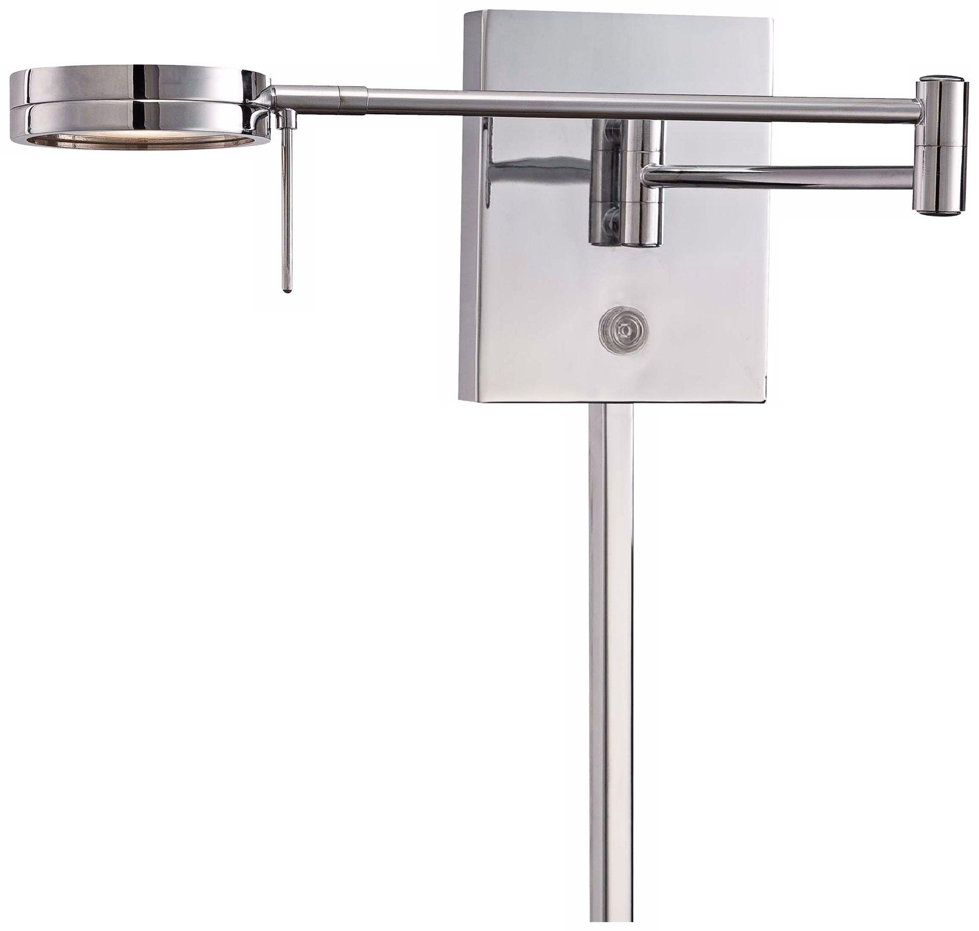 george kovacs round head led chrome swing arm wall lamp