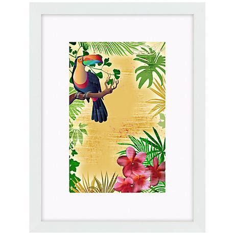 "Yellow Tropical Toucan 17"" High Bird Wall Art"