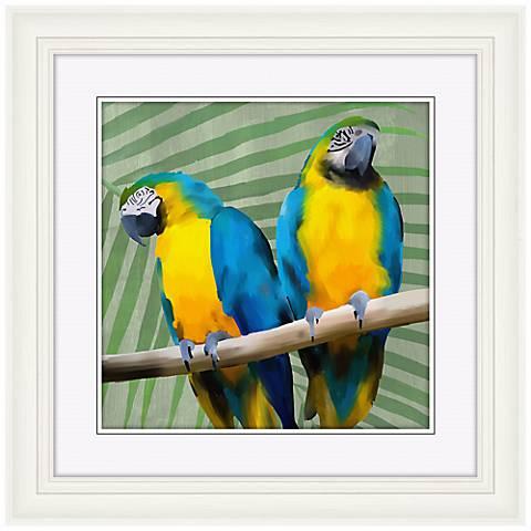 """Parrot Love I 22"""" High Bird Wall Art"""
