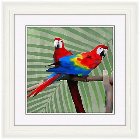 """Parrot Love II 22"""" High Bird Wall Art"""