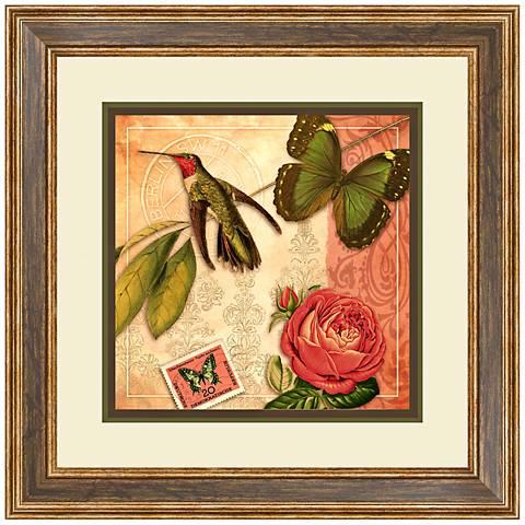 "Humming Love I 24 1/2"" High Butterfly Wall Art"
