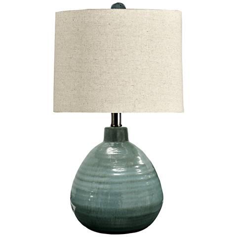 Turquoise Green Ceramic Jar Table Lamp