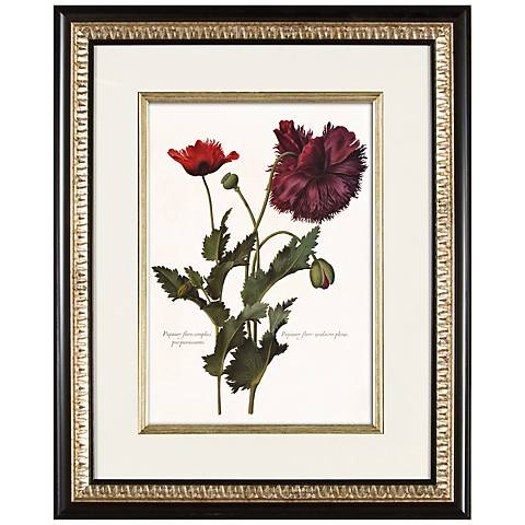 "Deep Red I 21"" High Floral Wall Art"
