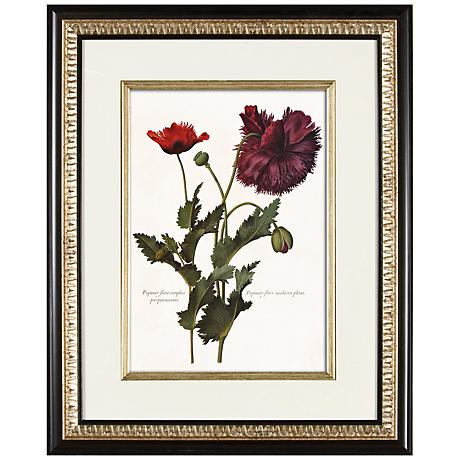 "Deep Red I 21"" High Floral Wall Art"