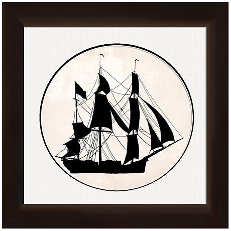 "Ship Silhouette 20"" Wide Nautical Wall Art"