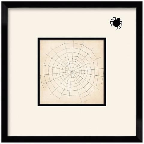 """Spiderweb Silhouette 17 1/2"""" Square Wall Art"""