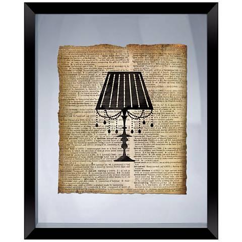 """Vintage Lamp 22"""" High Floating Framed Wall Art"""