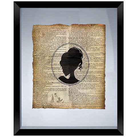 """Vintage Girl 22"""" High Floating Picture Frame Wall Art"""