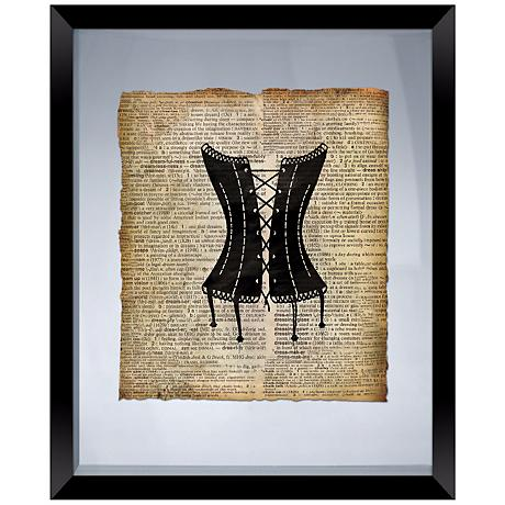 """Vintage Corset 22"""" High Floating Picture Frame Wall Art"""