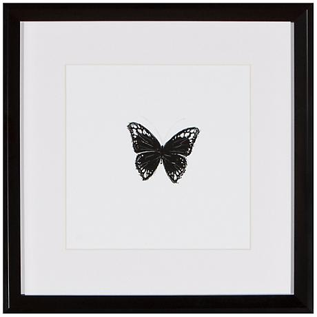 """Butterfly 13"""" Square Silhouette Wall Art"""