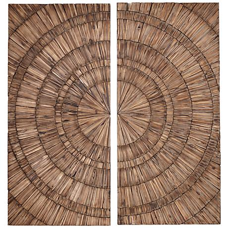 Set of 2 Lanciano Hand-Crafted Wood Uttermost Wall Art