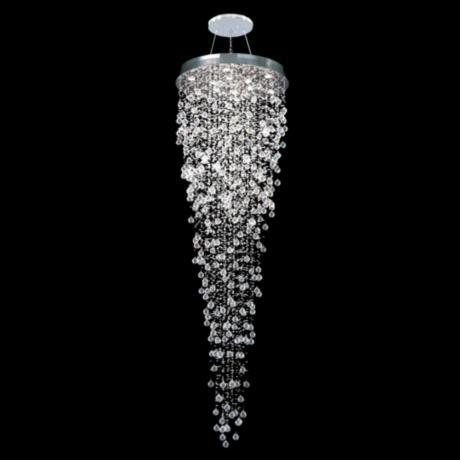 Moder Impact Crystal Rain 32 Wide Chandelier X1260 Lamps Plus