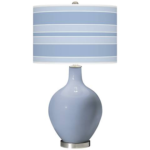 Blue Sky Bold Stripe Ovo Table Lamp