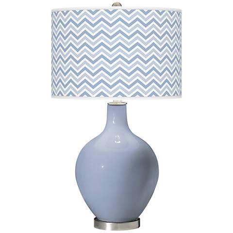 Blue Sky Narrow Zig Zag Ovo Table Lamp