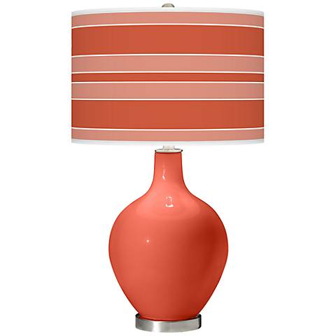 Koi Bold Stripe Ovo Table Lamp