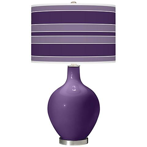 Acai Bold Stripe Ovo Table Lamp