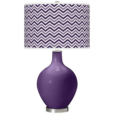 Acai Narrow Zig Zag Ovo Table Lamp