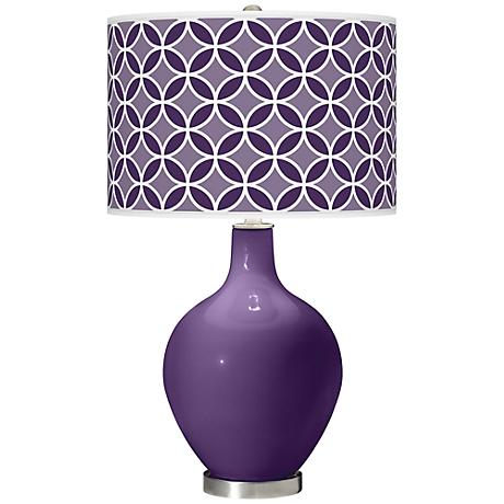 Acai Circle Rings Ovo Table Lamp