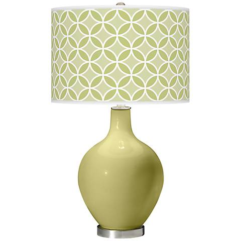 Linden Green Circle Rings Ovo Table Lamp