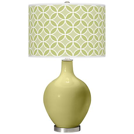 Linden Green Circle Rings Ovo Table Lamp