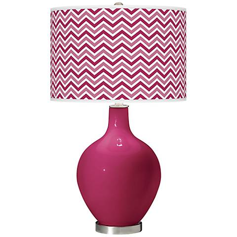 Vivacious Narrow Zig Zag Ovo Table Lamp