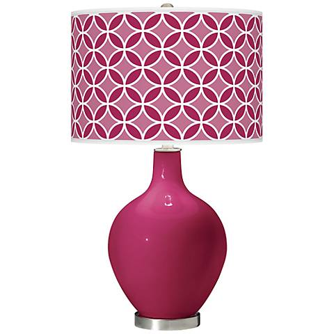 Vivacious Circle Rings Ovo Table Lamp