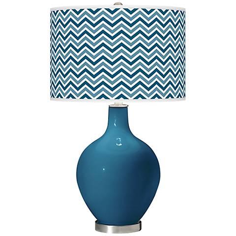 Bosporus Narrow Zig Zag Ovo Table Lamp