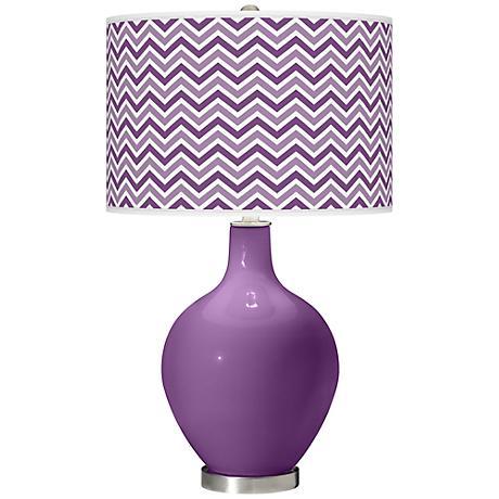 Passionate Purple Narrow Zig Zag Ovo Table Lamp