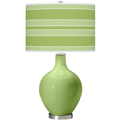Lime Rickey Bold Stripe Ovo Table Lamp