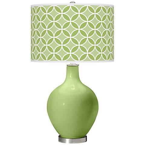 Lime Rickey Circle Rings Ovo Table Lamp