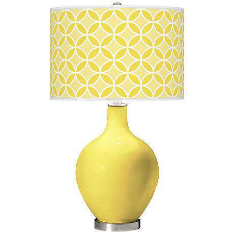 Lemon Twist Circle Rings Ovo Table Lamp