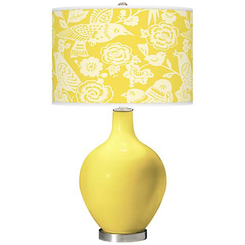 Lemon Twist Aviary Ovo Table Lamp