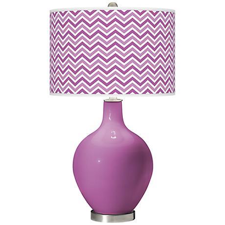 Pink Orchid - Narrow Zig Zag Shade Ovo Table Lamp