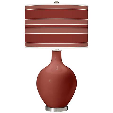 Madeira Bold Stripe Ovo Table Lamp