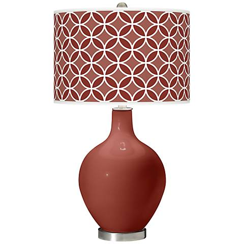 Madeira Circle Rings Ovo Table Lamp