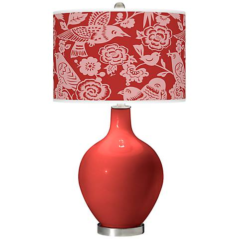 Cherry Tomato Aviary Ovo Table Lamp