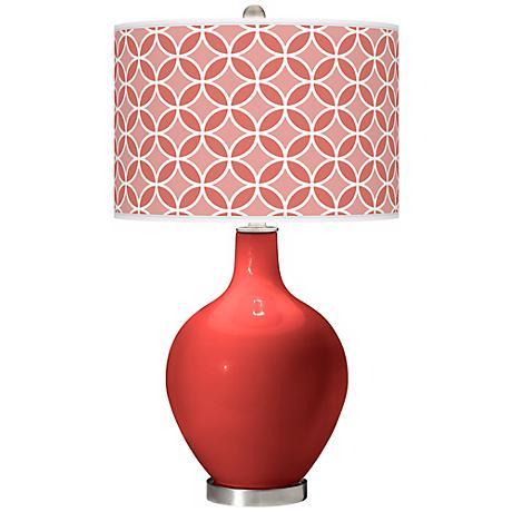 Cherry Tomato Circle Rings Ovo Table Lamp
