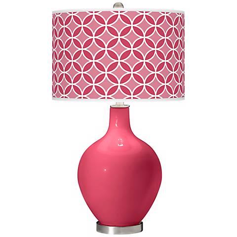 Eros Pink Circle Rings Ovo Table Lamp
