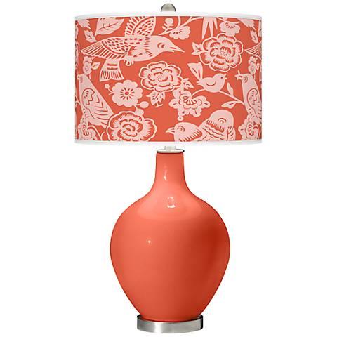 Daring Orange Aviary Ovo Table Lamp