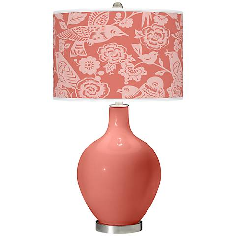 Coral Reef Aviary Ovo Table Lamp