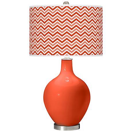 Daredevil Narrow Zig Zag Ovo Table Lamp