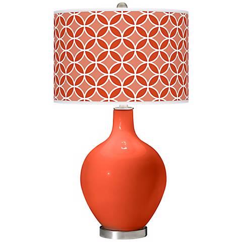 Daredevil Circle Rings Ovo Table Lamp