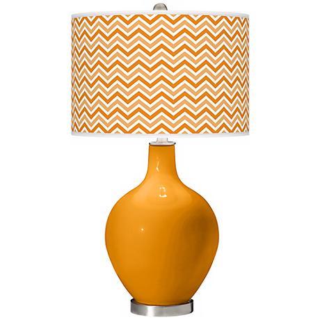 Carnival Narrow Zig Zag Ovo Table Lamp