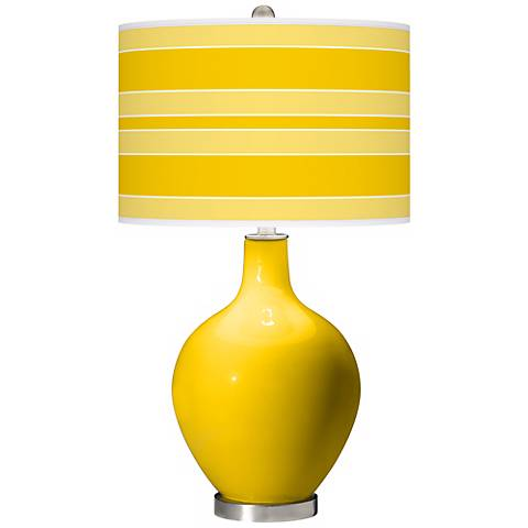 Citrus Bold Stripe Ovo Table Lamp