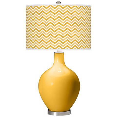 Goldenrod Narrow Zig Zag Ovo Table Lamp