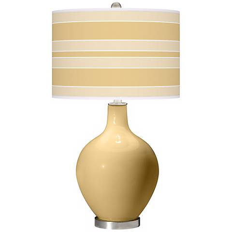 Humble Gold Bold Stripe Ovo Table Lamp