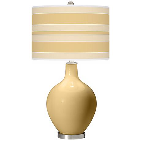 Humble Gold Bold Stripe Ovo Table Lamp