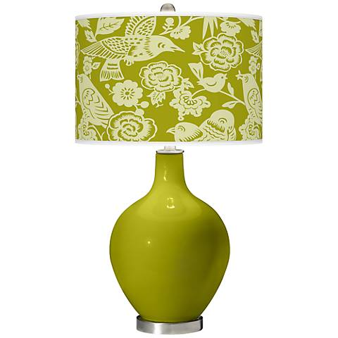 Olive Green Aviary Ovo Table Lamp