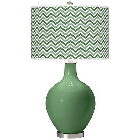 Garden Grove Narrow Zig Zag Ovo Table Lamp